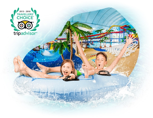 Kids on Water Slide Tube
