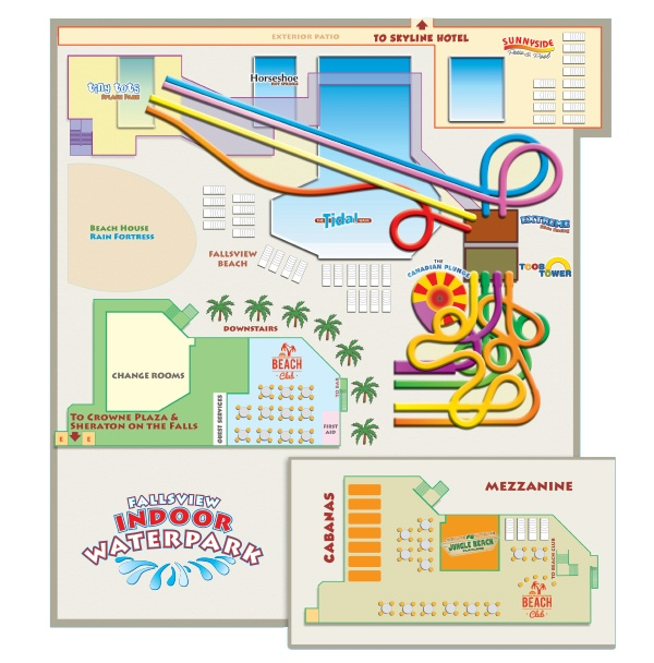 Fallsview Indoor Waterpark Map