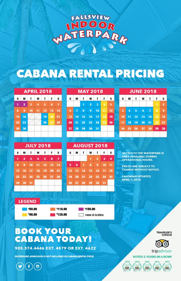Cabana Rental Pricing